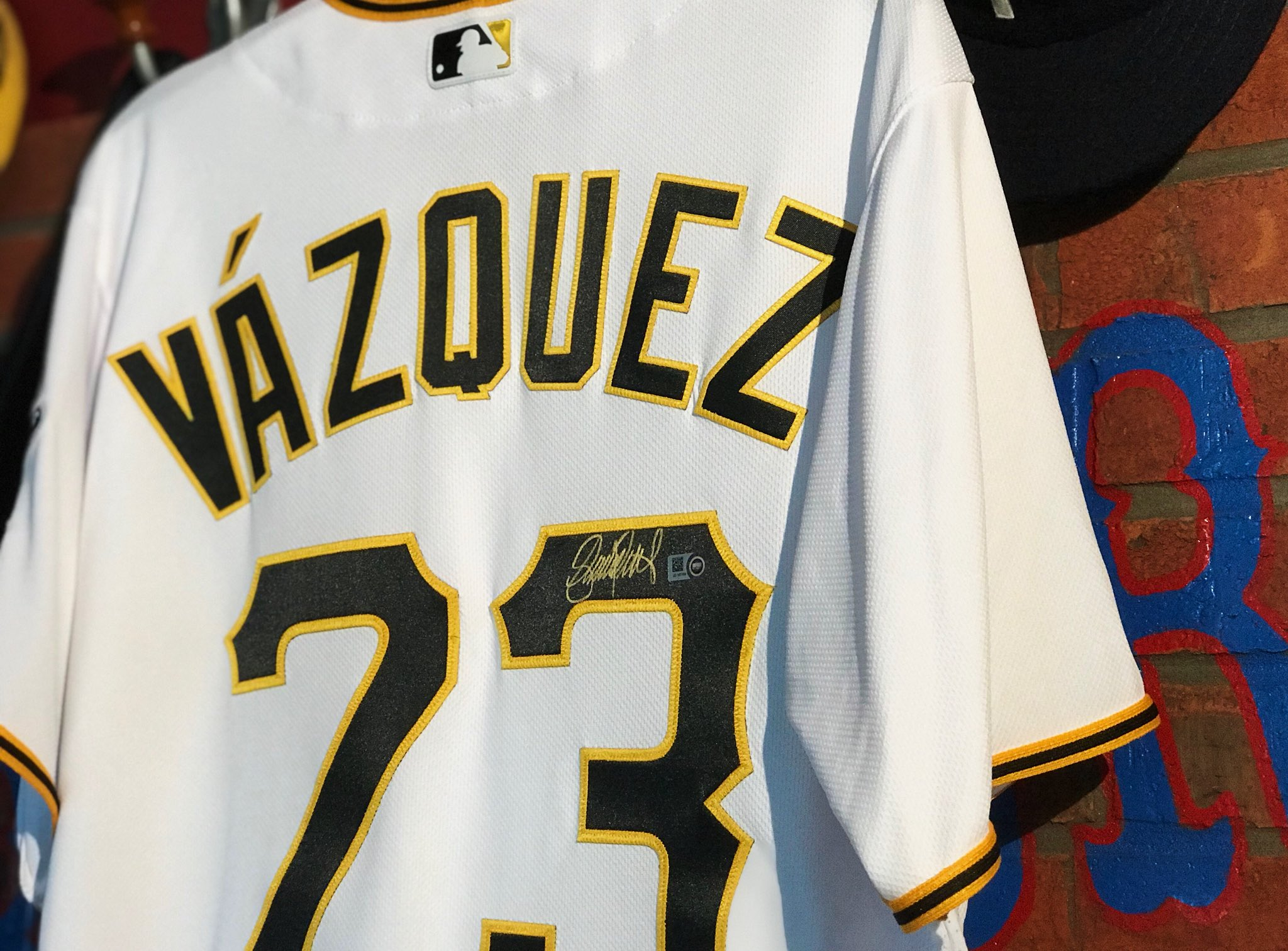 RETWEET this for a chance to win a SIGNED jersey from your #BucStar, Felipe Vazquez! ⭐️��  #AllStarGame https://t.co/VDTZPZWcNq