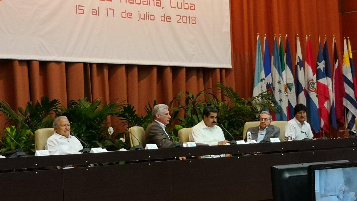 Foro de Sao Paulo re reunió en Cuba