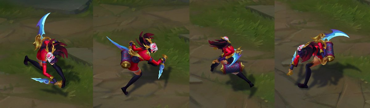 "moobeat on Twitter: ""here are turnarounds for the updated akali skins!  #PBE… """