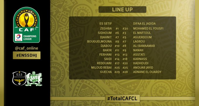 LINE UP | The starting XI for the upcoming match #ENSSDHJ #TotalCAFCL Photo
