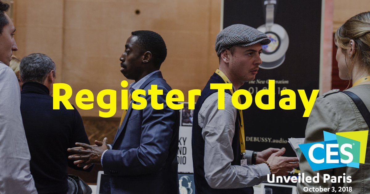 Make the connections that matter with access to 500+ industry influencers and potential partners. Exhibit at #CESUnveiledParis https://t.co/jRoARsseZW