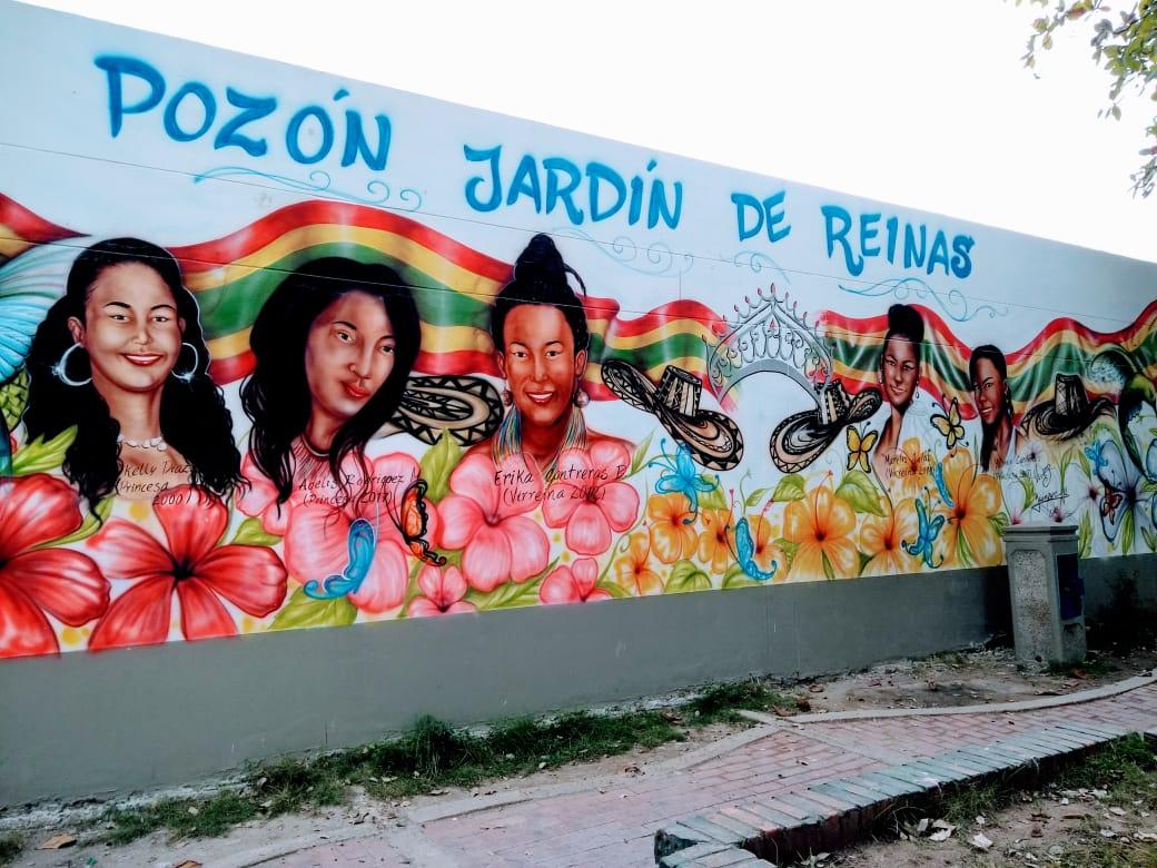 Este mural de Víctor Vives Carrillo ahora adorna las calles de El Pozón. ¿Qué tal te parece?  Foto IG: @LuisAparicio2  #EstoTambiénEsCartagena