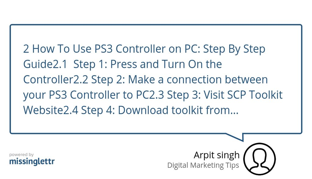 scp controller ps3 windows 10