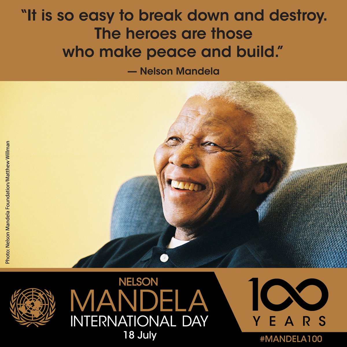 'Nelson Mandela was a towering global advocate for justice & equality. He continues to inspire the world through his example of courage & compassion.' --  on Wedn@antonioguterresesday's  #MandelaDayhttps://t.co/4Png9eEZiD