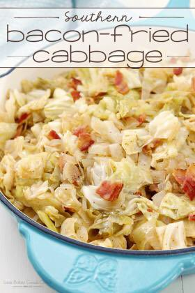 Southern Bacon-Fried Cabbage - Love Bakes Good Cakes https://t.co/7WHriYSq3p #Bacon #Cabbage #Recipes https://t.co/UoYEg5RS81