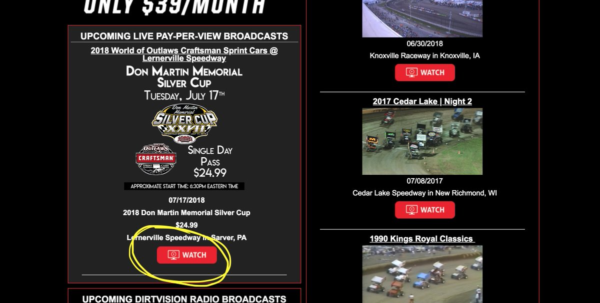 Dirtvisioncom On Twitter Raceday In Sarver Pennsylvania Tune In