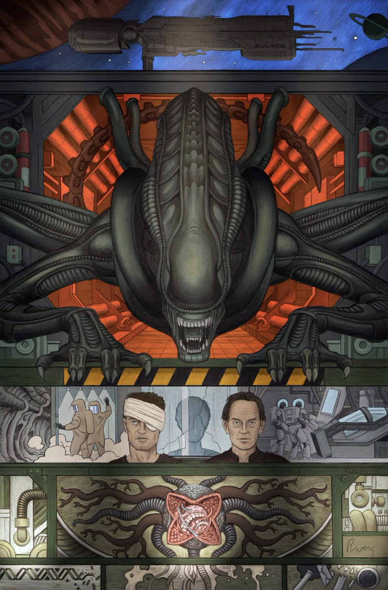 The original, unused #Alien 3 movie script written by cyberpunk author William Gibson @GreatDismal in the '80s FINALLY becomes the comic book series we always wanted! Read more in my @CNET article here: https://t.co/fl9hyhCwoJ  cc @AlienAnthology @DarkHorseComics