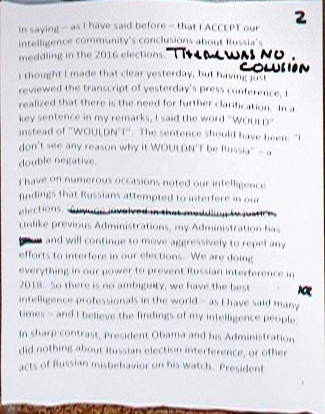 Notes on a scandal: why Trump loves to scrawl in marker pen