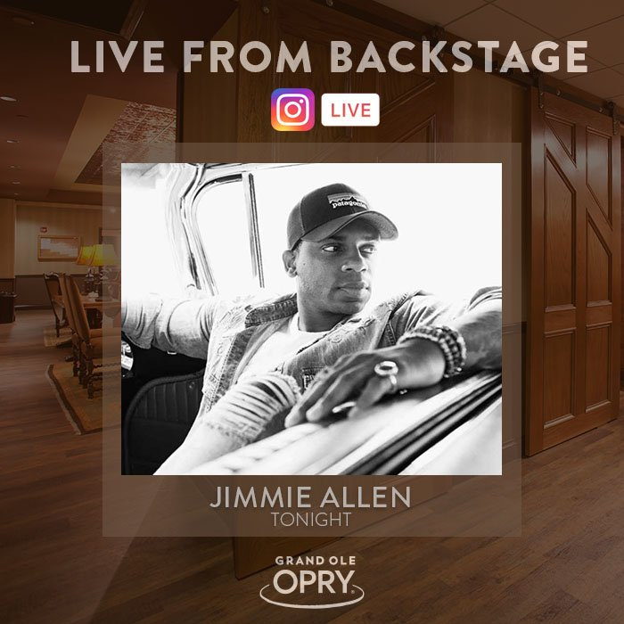 Not only can you catch @JimmieAllen on stage tonight, but you can also catch him backstage for a LIVE performance on #Instagram! 🎤  🎦: https://t.co/a5YBgTeZDj