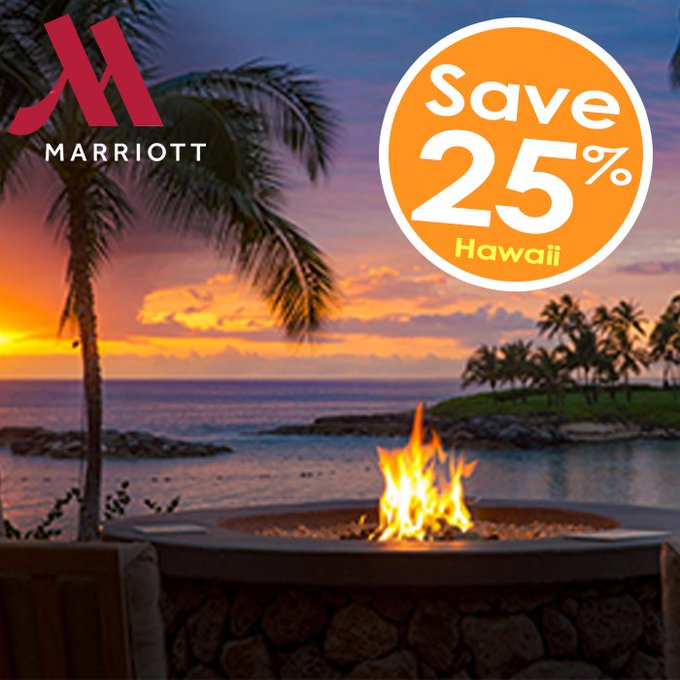 Save 25% off a Hawaiian vacation at the Marriott! 🌺 Details: #hawaii #traveltuesday Photo