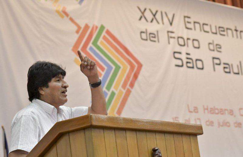 Evo Morales habló en nombre de los pueblos