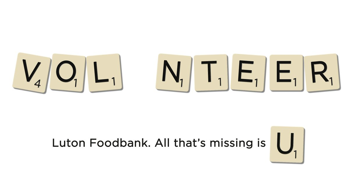 Luton Foodbanks Tweet Build Your Cv While Helping Your