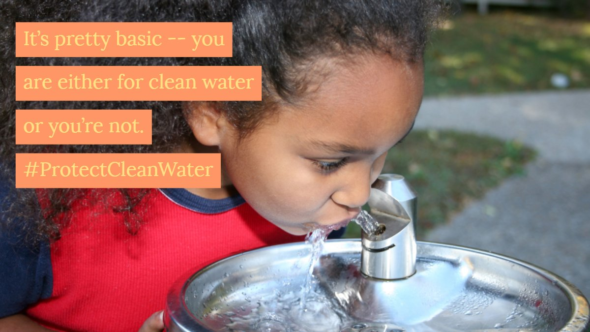 Congress has a choice: Show us that they are for clean water or show us that they are for polluters. All they have to do is reject the dangerous #DirtyWaterRider that will repeal safeguards for streams, wetlands, and drinking water supplies. <br>http://pic.twitter.com/70xQnl09Bl