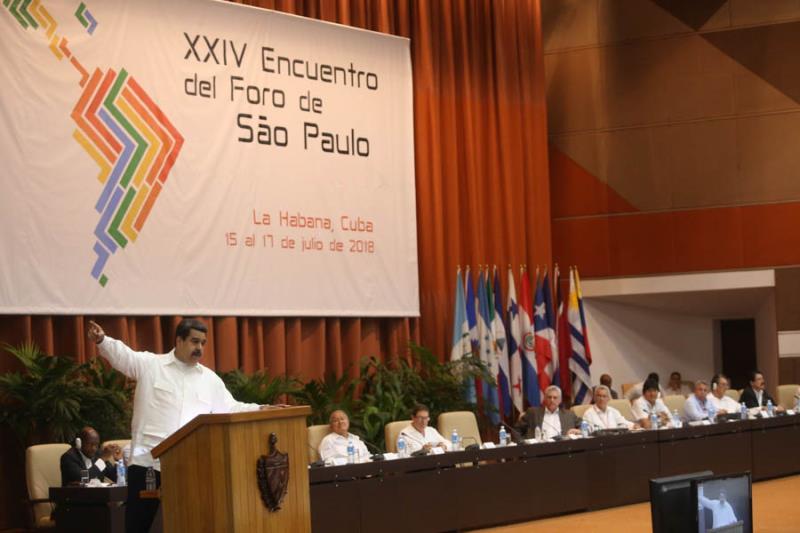 Reunión del Foro de Sao Paulo