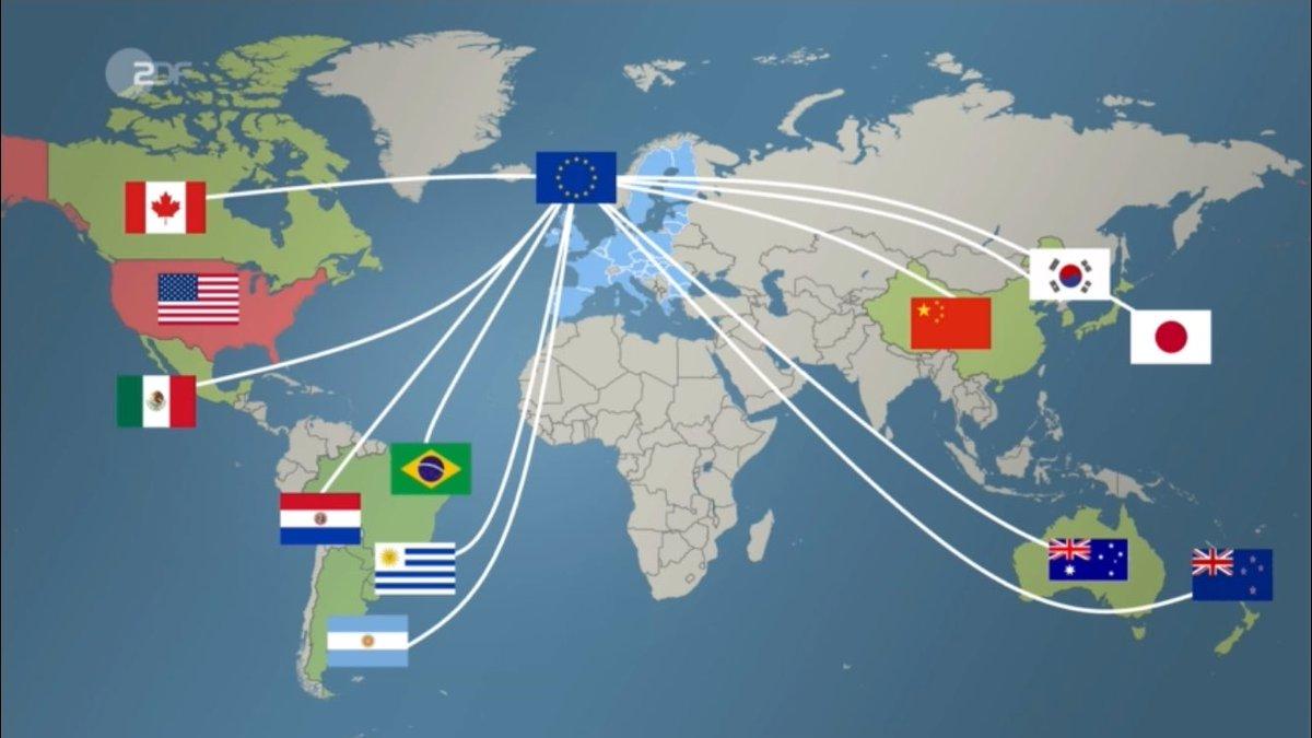 Die Weltkarte des EU-Freihandels in Zeiten von Donald Trump: Wo geht grad was - und wo nicht?