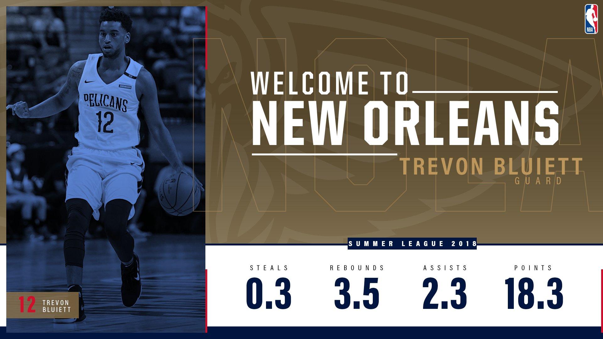 #Pelicans sign guard Trevon Bluiett to a two-way contract  INFO: https://t.co/ls2VrkPuhH https://t.co/U2jiW7Fsa7
