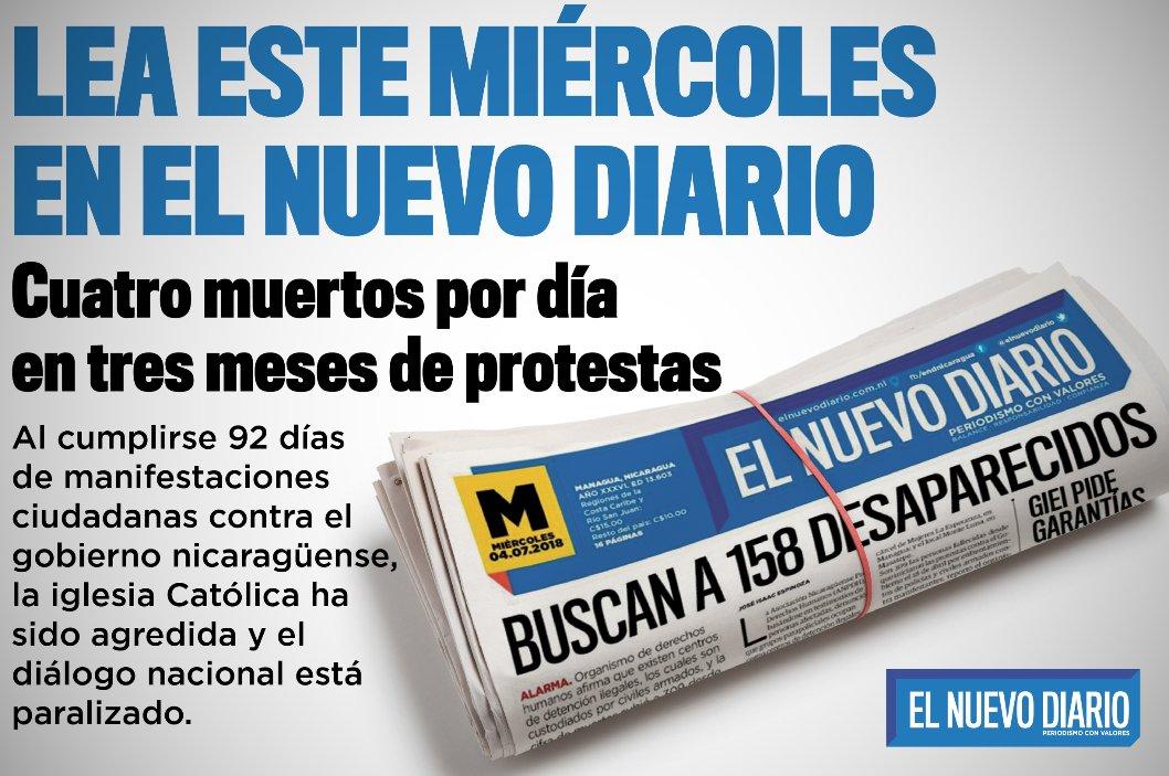 Se cumplen tres meses de protestas en #Nicaragua y en nuestra edición del miércoles analizamos a fondo 👇👇👇