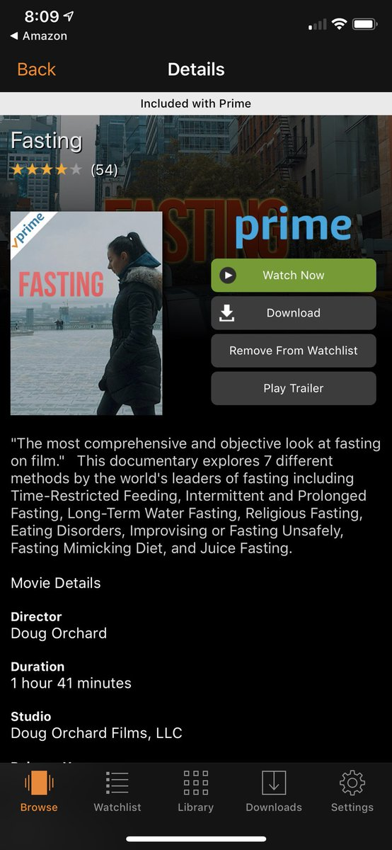 Watched this documentary on fasting. Good. For the past year and a half I've been eating only one meal a day: dinner. Not for everyone, but it works for me. Non-intuitive, but I find I have a lot more energy and focus, feel healthier and happier, and my sleep is much deeper.