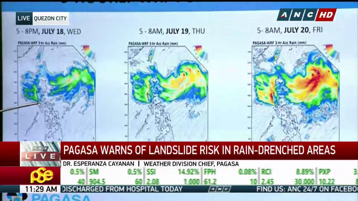@dost_pagasa  @dost_pagasa.: Western part of central Luzon to experience heavy rains Thursday morning. Western parts of Zambales, Bataan, Ilocos Region to experience heavy rains on Friday. https://t.co