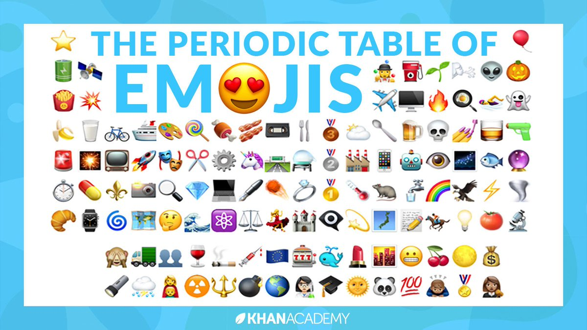 Khan academy on twitter happy worldemojiday heres the khan academy on twitter happy worldemojiday heres the periodictable in emojis can you figure them all out urtaz Gallery