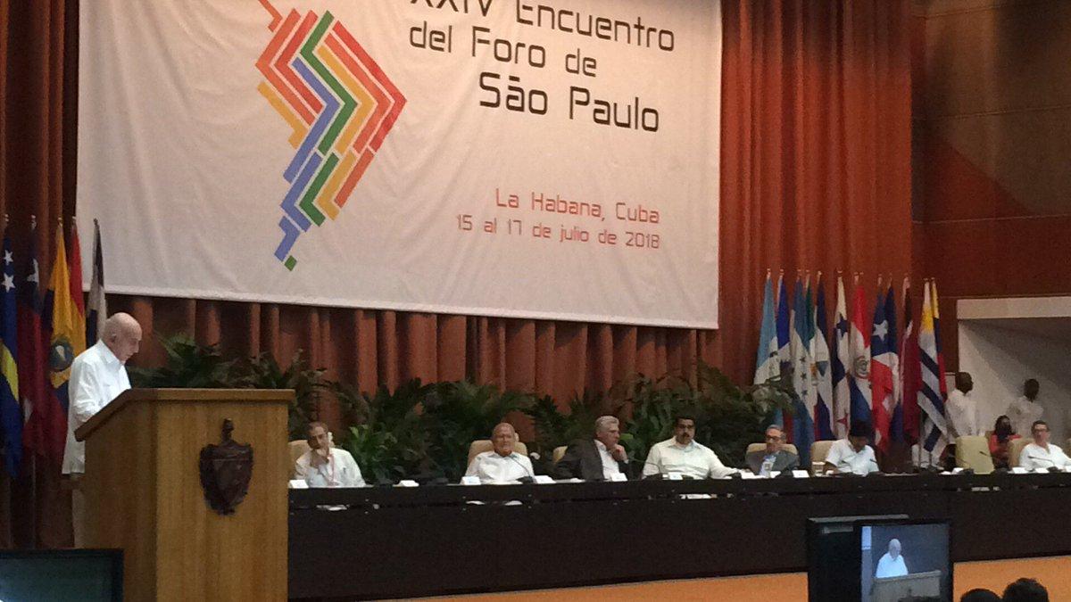 Clausura de reunión del Foro de Sao Paulo