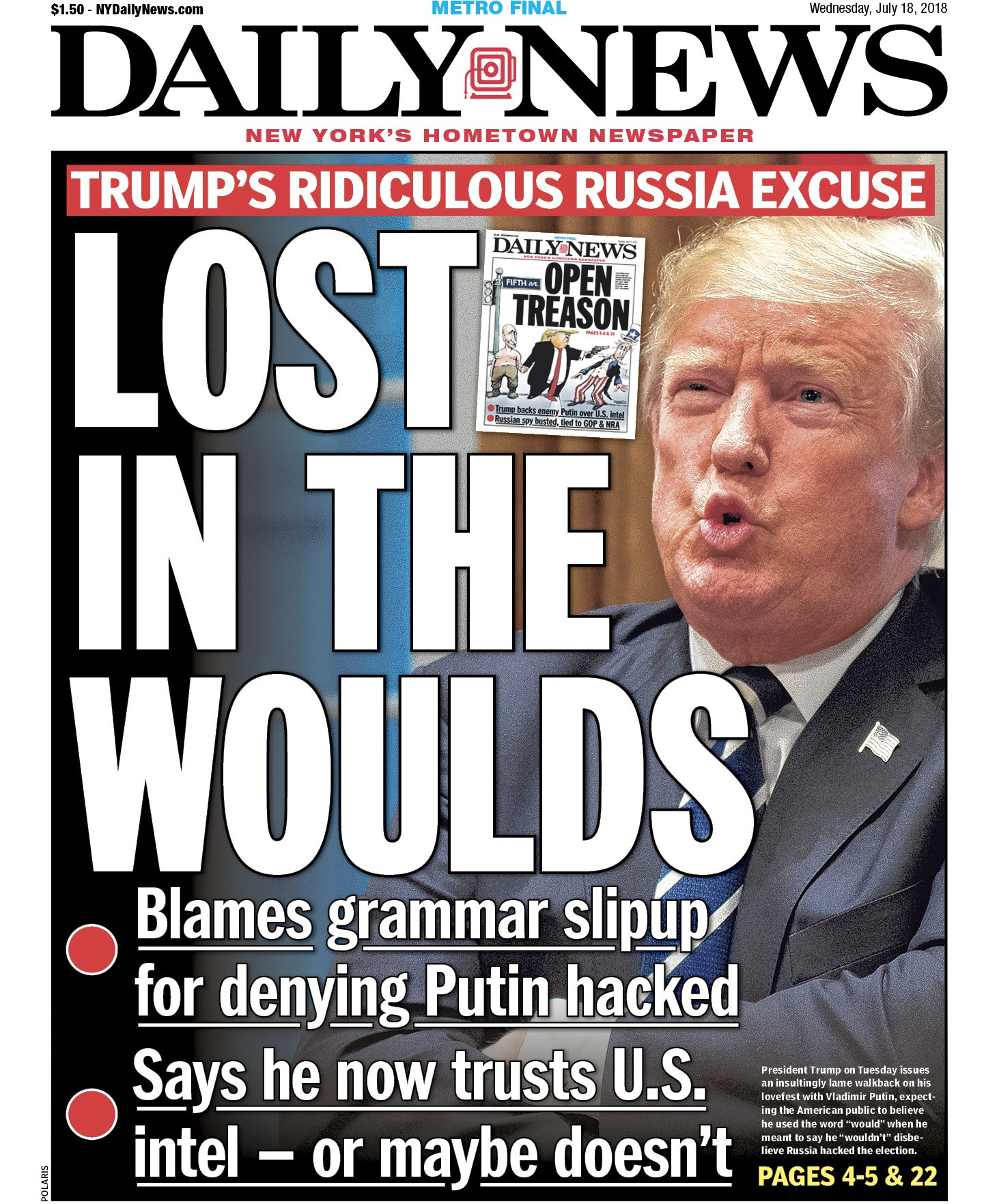 Wouldn't it be nice if he told the truth for once? https://t.co/Kjs498cCcH   An early look at Wednesday's front... https://t.co/KwGdlCHw5T