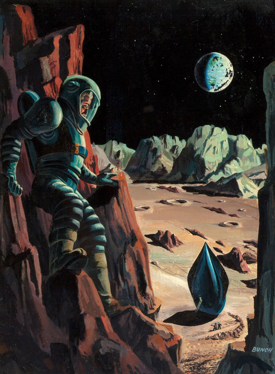 Prelude to Space, Galaxy Science Fiction, cover by Bunch, 1951 https://t.co/ONLeUZyqfx