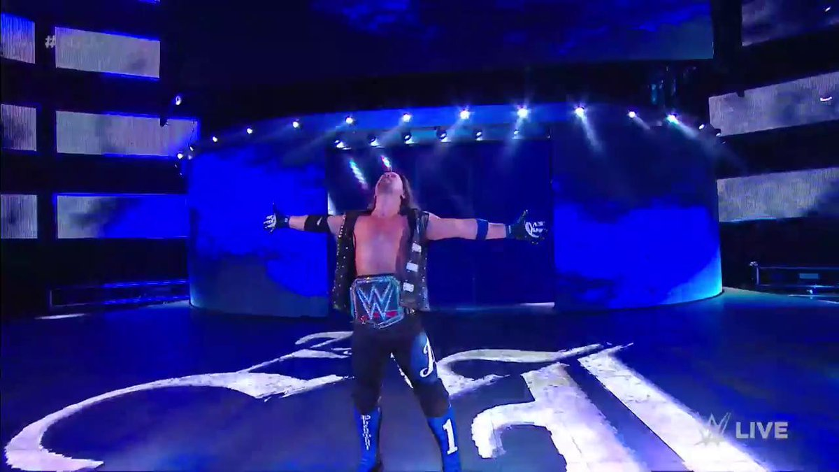 Here Comes Your WWE Champion  @AJStylesOrg!!! #SDLive