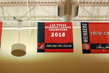 This needs to happen at the practice facility... 🏆 #Winning #RipCity #NBASummer #RaiseTheBanner #Champs