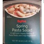 Image for the Tweet beginning: Grocery chain recalls pasta salad