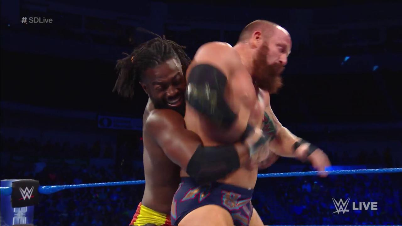 The power of POSITIVITY meets the power of inSANitY as @TrueKofi battles @TheEricYoung RIGHT NOW on #SDLive! https://t.co/pDyZDu5BKj