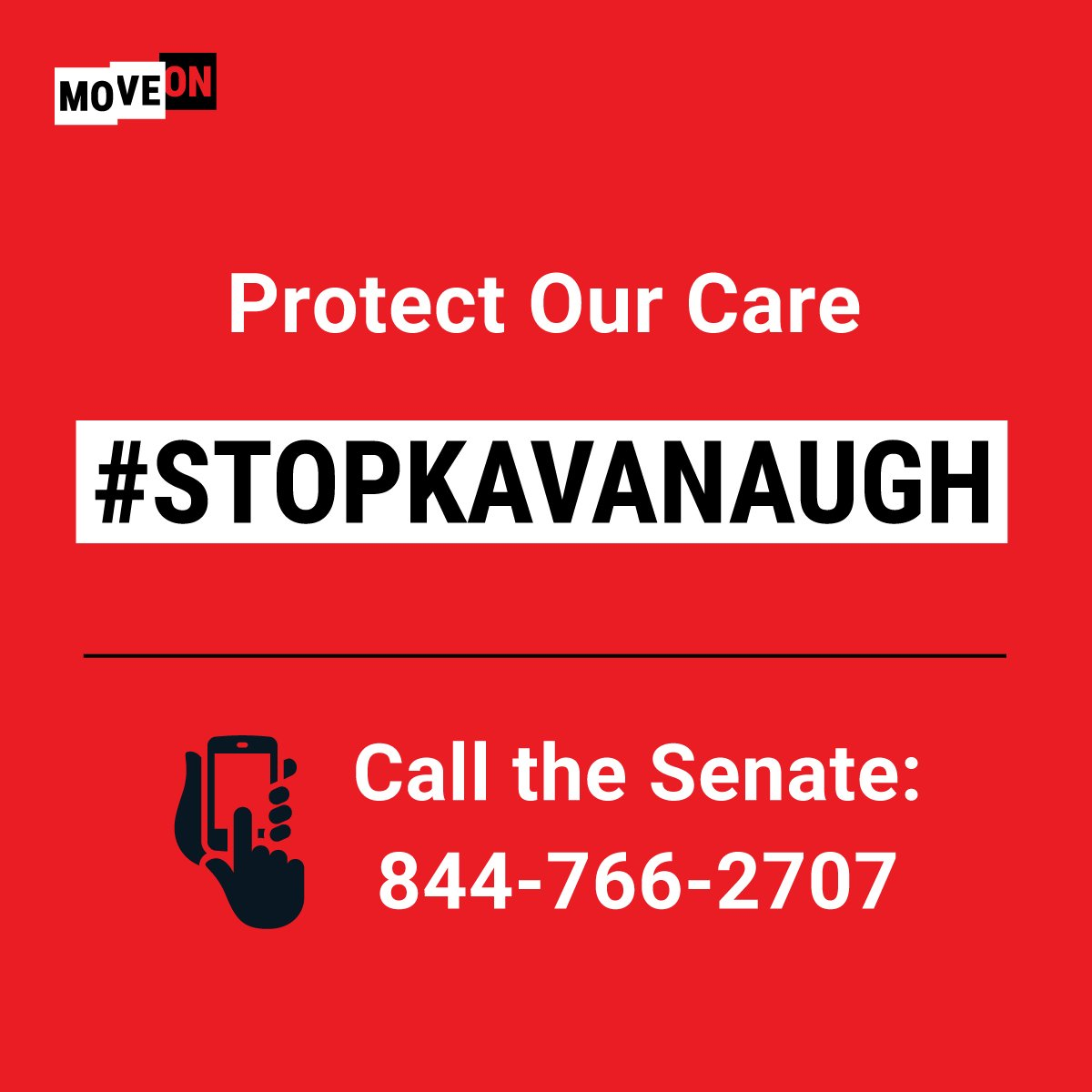 If the #Senate doesn't block @realDonaldTrump's #SCOTUS pick, the rights of future generations are at risk. Call now to #SaveSCOTUS: 844-766-2707 #StopKavanaugh