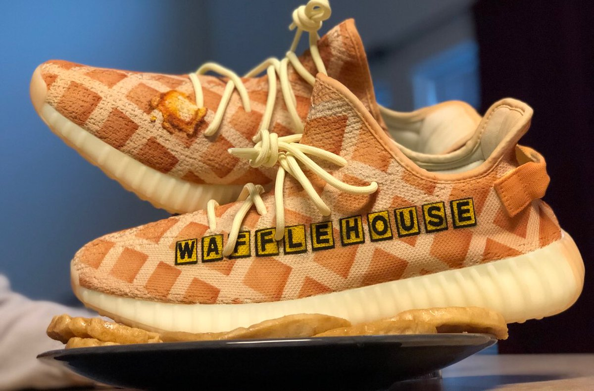cheap for discount 8db03 63267 custom waffle house yeezys from mache275