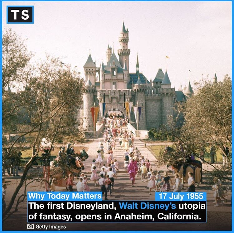 """Quite the day for children! """"All our dreams can come true if we have the courage to pursue them."""" - Walt Disney...Oh, and: """"I only hope that we never lose sight of one thing — that it was all started by a mouse."""" - Walt Disney #OTD #History #Disney #WhyTodayMatters #Fun #Walt"""