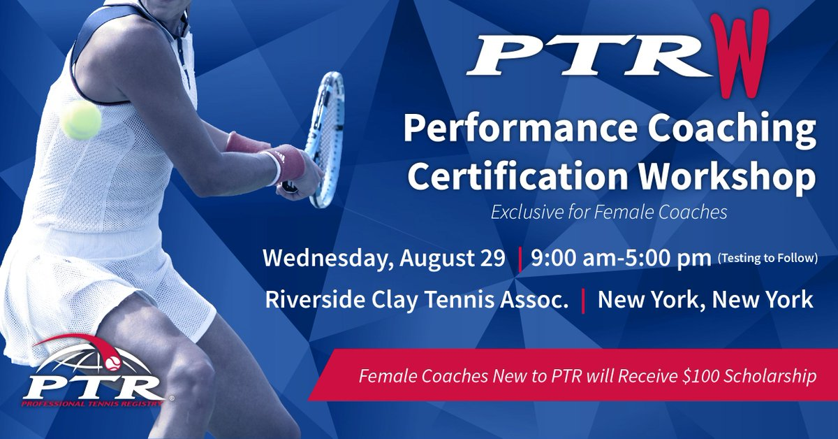 Ptr Tennis On Twitter Performance Coaching Certification Workshop