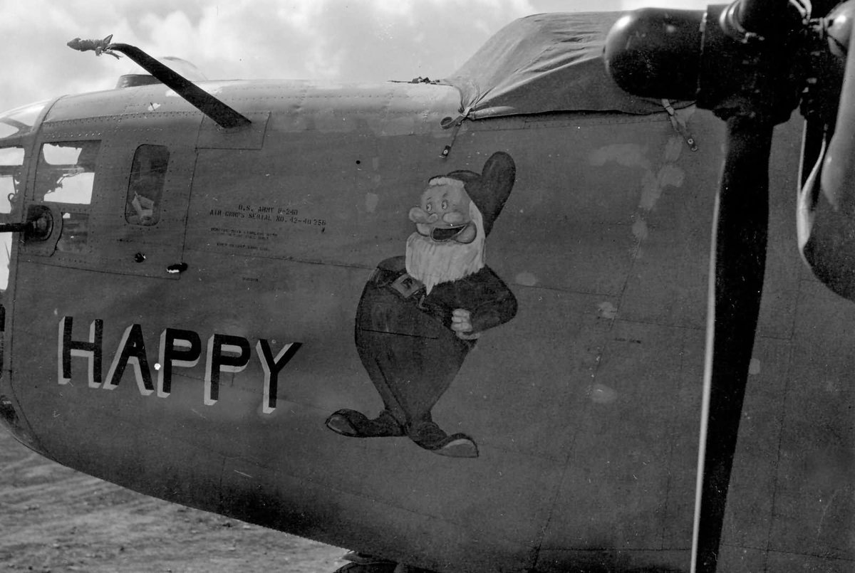 Sir Joe Guybee On Twitter Consolidated B 24D 40 CO Liberator 42 40256 Of The 98th Bomb Group 343rd BS Africa 1943 Happy Nose Art