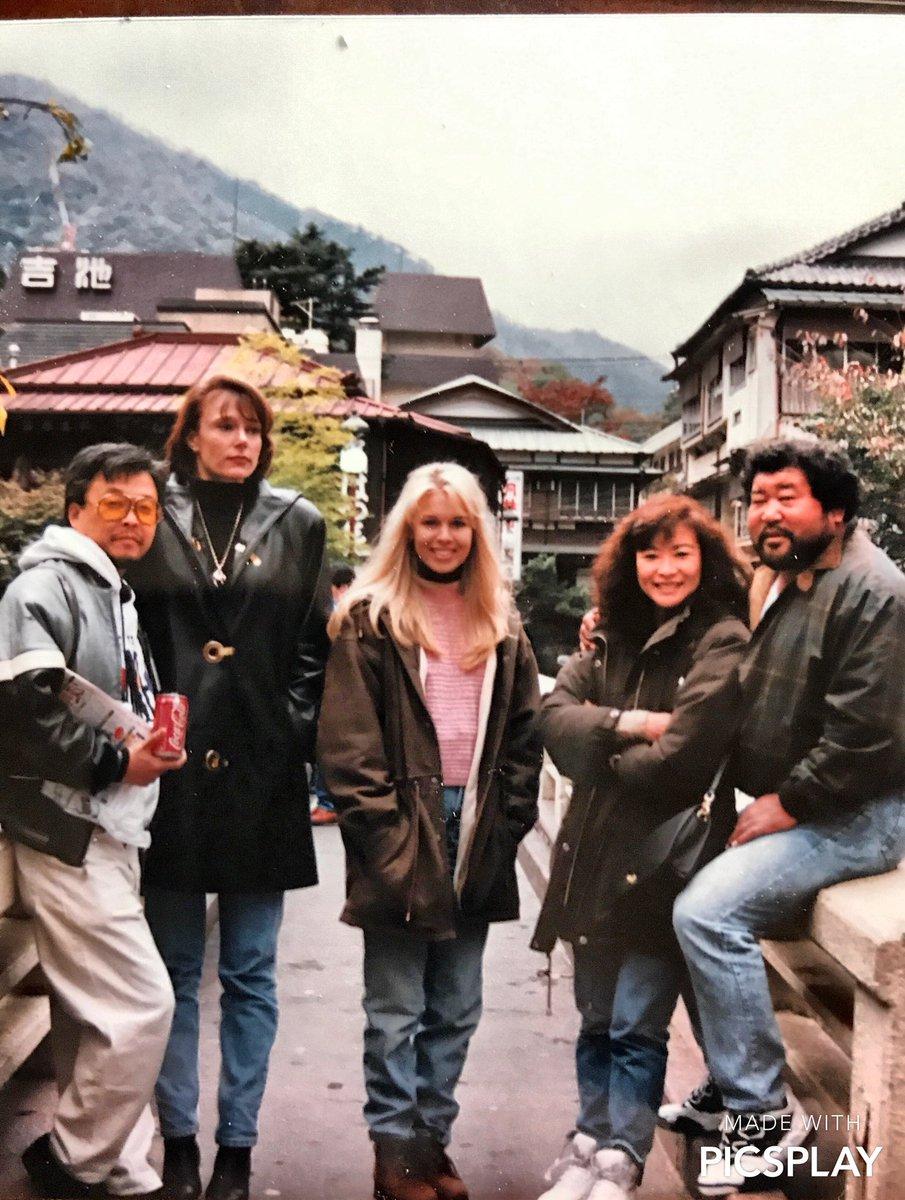 Loree and I going through family photos. Many happy memories with Masa and Michi Saito.