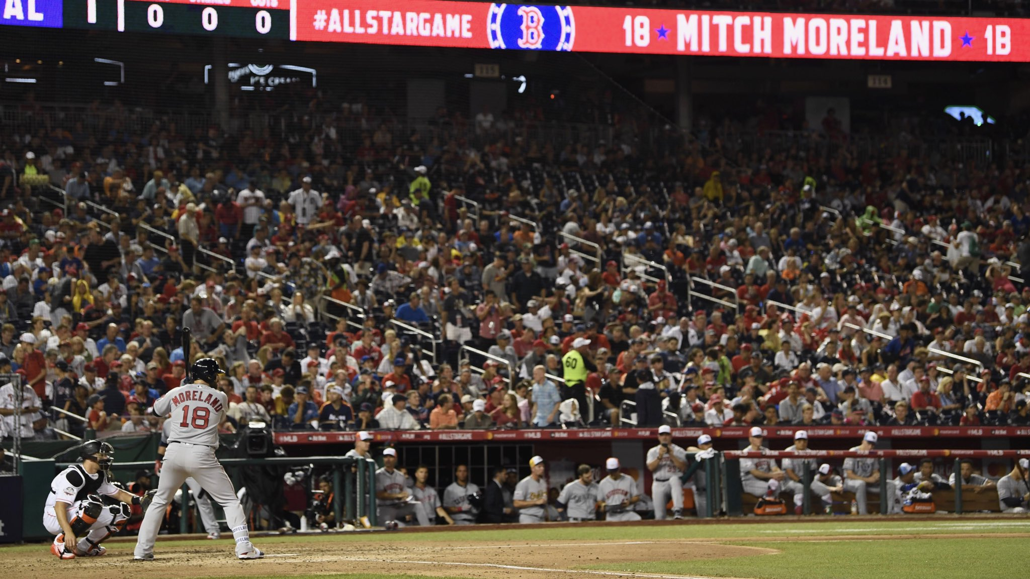 Mitch with a line-drive single! ��  #AllStarGame https://t.co/QqvR6mlFyn