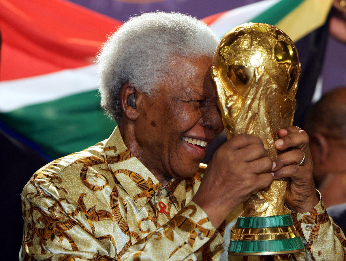 Remembering a great man who helped bring the #WorldCup to Africa 🏆  🇿🇦Nelson Mandela would have turned 100 today #MandelaDay