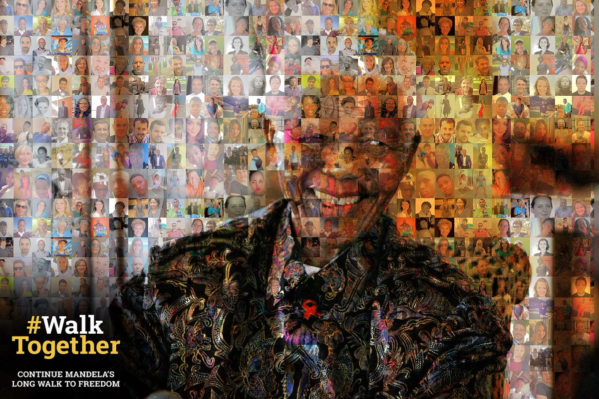 Happy #MandelaDay! Tell the world what Madiba means to you using #WalkTogether and #Mandela100 in your post & your profile pic could be part of the Mandela Peace Mosaic presented to world leaders  in @UNSeptember https://t.co/vu0Hzxo7wU
