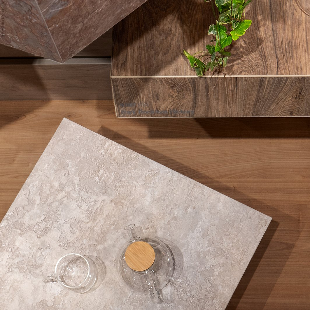 The richness of the #Organic world transmitted to our decorative surfaces, endowing them with great personality. #Kronospan #Kronodesign #Trends1819 #OrganicDesign #FurnitureDesign #Nature #MFPB #Melamine #DarkRockfordHickory #Hickory #LightLunarStone #OrganicInspiration https://t.co/mgqi4socNP