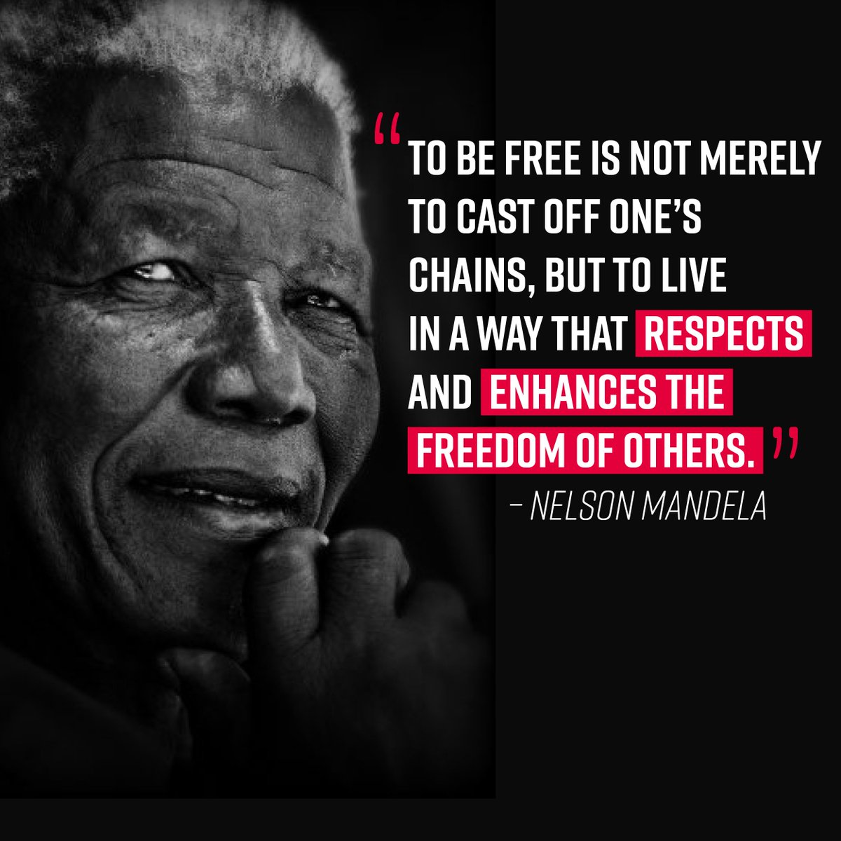 Nelson Mandela was born 100 years ago today.  He continues to inspire.