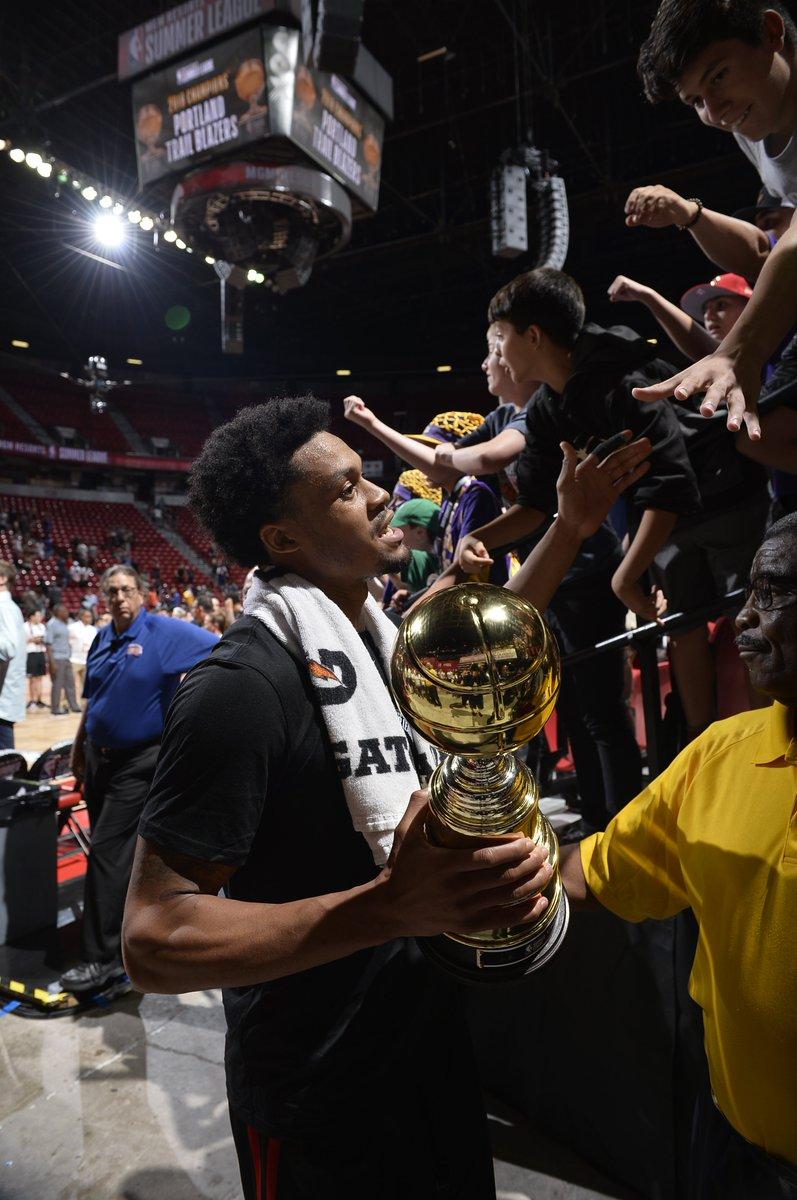#NBASummer MVP feels 🏆  @grdrive ➡️ @trailblazers #GLeagueAlum