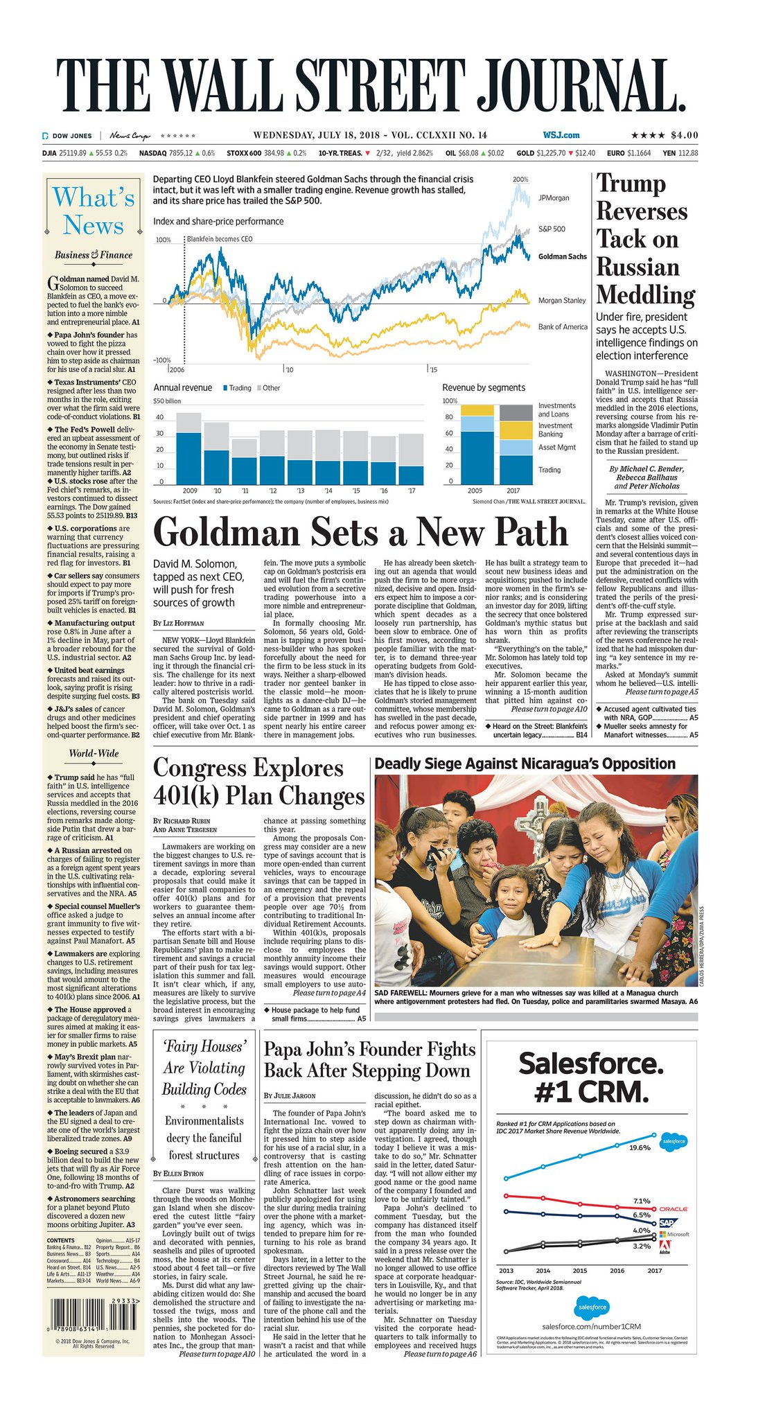 Take an early look at the front page of The Wall Street Journal https://t.co/5xQPDPcm8q https://t.co/0pP7WTO5Cd
