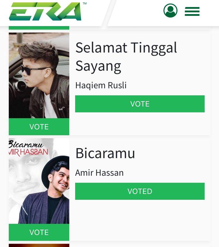 Amir Hasan On Twitter Hi Semua Jangan Lupa Vote Lagu Amir Dekat