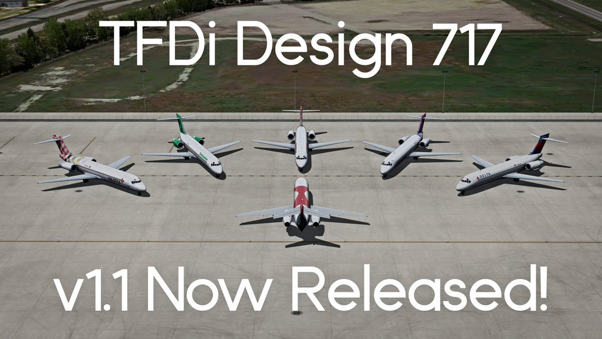 TFDi Design 717: Version 1 1 Released