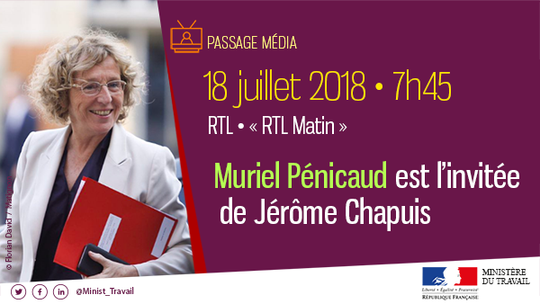 Image for the Tweet beginning: [📅 Agenda] Ce matin, @murielpenicaud