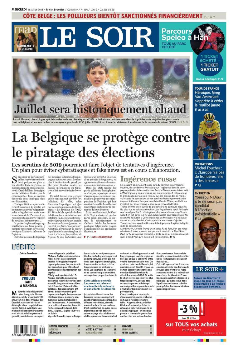 #LeSoirDuJour «La Belgique se protège contre le piratage des élections» A découvrir en librairies ou en version numérique : https://t.co/cwwapndmZo