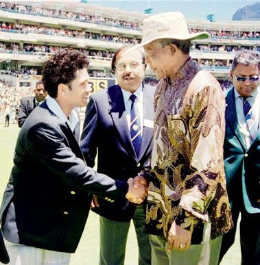 Remembering @NelsonMandela on his 100th birthday. I was extremely fortunate enough to have met him early on in my life. So much to learn, so much to get inspired from. #Madiba100