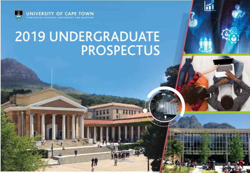 UCT On Twitter Applications For Admission Are Open Apply